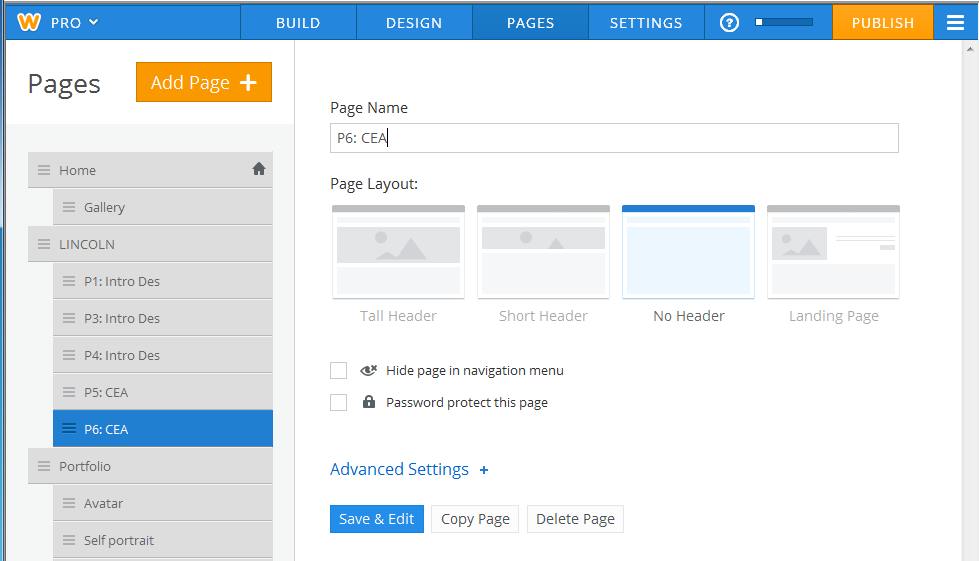 How to add and organize  pages to your site